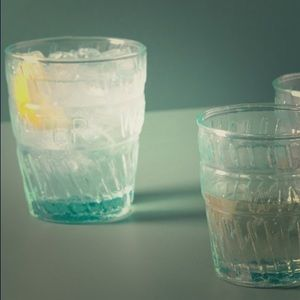 Anthropologie water glass